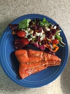 Glazed Salmon and Tossed Salad