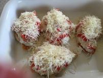 Add ricotta mixture, tomatoes, and mozzarella