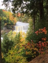 Tahquamenon Falls State Park in the upper peninsula of Michigan