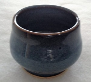 This is one of my favorite glazes. It's called Rutile Blue.